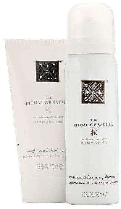 Zestaw podróżny Mleko ryżowe i kwiat wiśni - Rituals Cosmetics Mini Sakura Set (b/cr/70ml + sh/gel/50ml) — фото N2