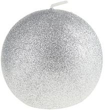 Kup Świeca dekoracyjna, srebrna kula, 8 cm - Artman Glamour