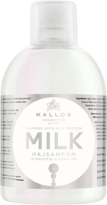 Szampon do włosów z wyciągiem z protein mlecznych - Kallos Cosmetics Milk Protein Shampoo