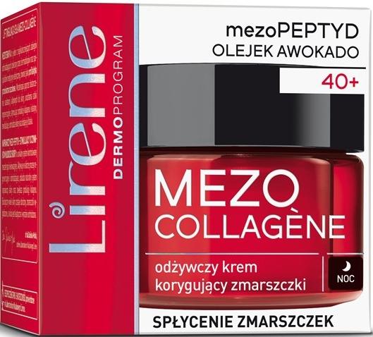 Odżywczy krem korygujący zmarszczki do twarzy na noc - Lirene Mezo Collagene