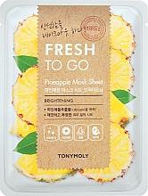 Kup Rozświetlająca maska do twarzy na tkaninie z ekstraktem z ananasa - Tony Moly Fresh To Go Mask Sheet Pineapple