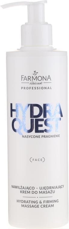 Nawilżająco-ujędrniający krem do masażu twarzy - Farmona Professional Hydra Quest Hidrating & Firming Massage Cream