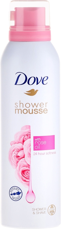 Mus do mycia ciała Olejek różany - Dove Rose Oil Shower Mousse