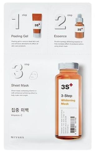 3-stopniowa kuracja rozjaśniająca do twarzy - Missha 3-Step Whitening Mask — фото N1