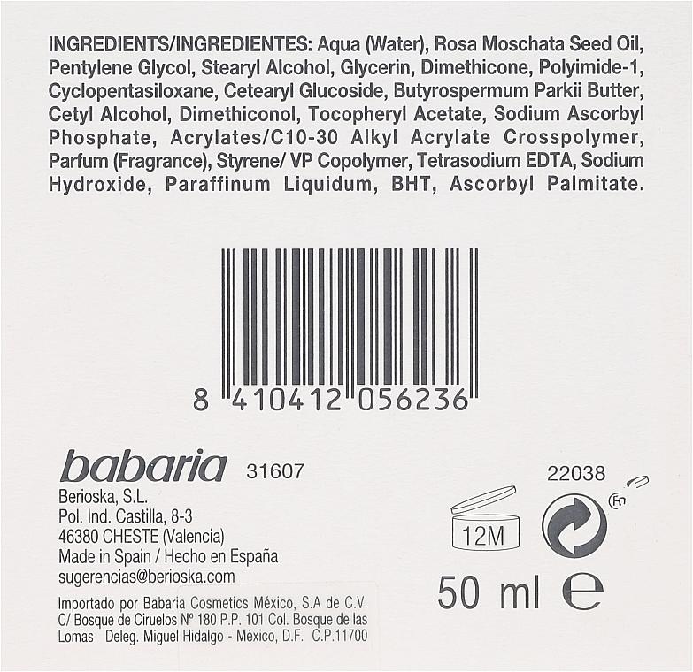 Przeciwzmarszczkowy krem do twarzy - Babaria Rosa Mosqueta Anti-Wrinkle Face Cream — фото N3