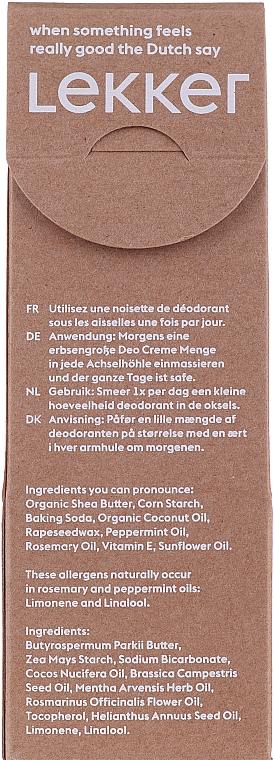 Naturalny dezodorant w kremie Mięta i rozmaryn - The Lekker Company Natural Deodorant — фото N2