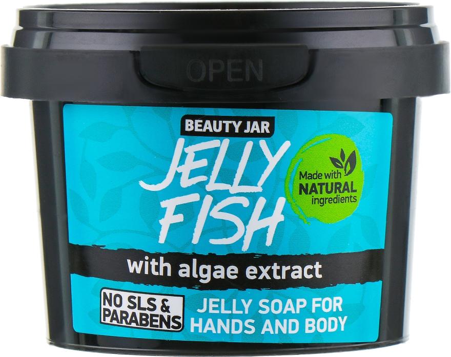 Żelowe mydło do rąk i ciała z ekstraktem z alg - Beauty Jar Jelly Fish Jelly Soap For Hands And Body — фото N2