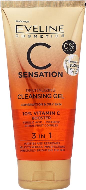 Żel do mycia twarzy - Eveline Cosmetics C-Sensation