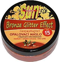 Kup Rozświetlający olejek do opalania SPF 15 - Vivaco Sun Argan Bronz Oil Glitter Effect SPF 15
