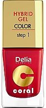 Kup PRZECENA! Żelowy lakier do paznokci - Delia Cosmetics Coral Nail Hybrid Gel *