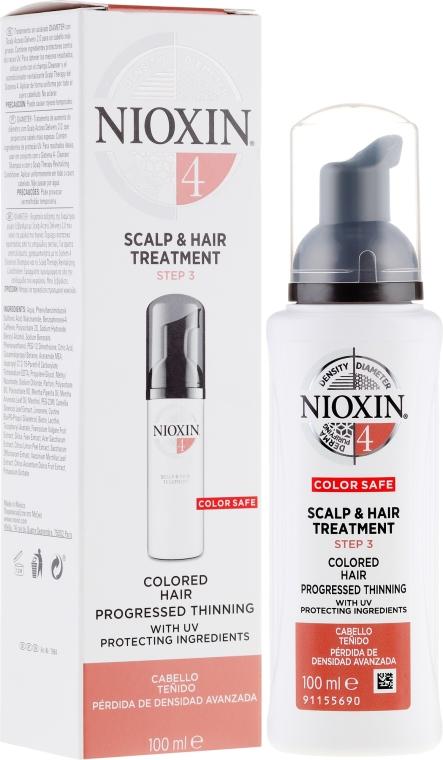 Odżywcza maska do skóry głowy i progresywnie przerzedzających się włosów farbowanych - Nioxin System 4 Color Safe Scalp & Hair Treatment Step 3 — фото N1