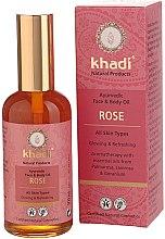 Kup Ajurwedyjski olejek do twarzy i ciała Róża - Khadi Rose Ayurvedic Face And Body Oil
