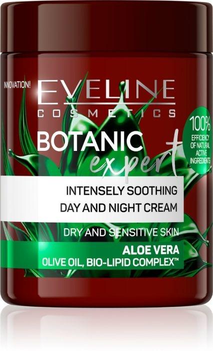 Intensywnie łagodzący krem do twarzy na dzień i na noc Aloes - Eveline Cosmetics Botanic Expert — фото N1
