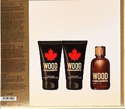 Zestaw dla mężczyzn - DSQUARED2 Wood Pour Homme (edt 50 ml + sh/gel 50 ml + ash/balm 50 ml) — фото N2
