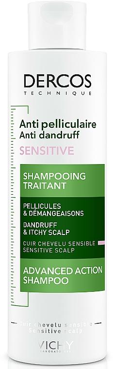 Przeciwłupieżowy szampon z dwusiarczkiem selenu do skóry wrażliwej - Vichy Dercos Anti-Dandruff Sensitive Shampoo