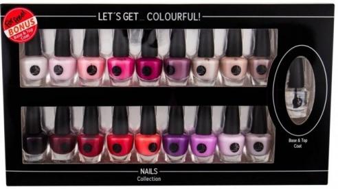 Zestaw lakierów do paznokci - Cosmetic 2K Let'S Get Colourful! (19 x nail/laq 3,5 ml) — фото N1
