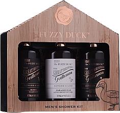 Kup Zestaw - Baylis & Harding Men's Fuzzy Duck Ginger & Lime Lixury Grooming Gift Set (ash/balm/300ml+shm/300ml+sh/gel/300ml)