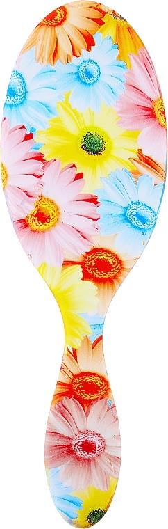 Szczotka masująca do włosów, 63961, kwiaty - Top Choice Soft Touch — фото N2