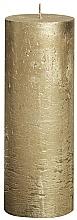 Kup Świeca cylindryczna, złota, 190 x 68 mm - Bolsius Candle