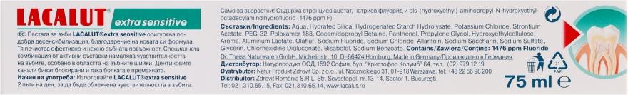 """Pasta do zębów """"Extra Sensitive"""" - Lacalut — фото N4"""