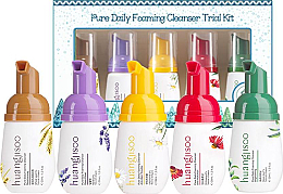 Kup Zestaw - Huangjisoo Pure Daily Foaming Cleanser Trial Kit (5 x foam 30 ml)
