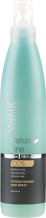 Spray wzmacniający włosy - Markell Cosmetics Natural Line Strengthening Hair Spray — фото N1