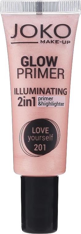 Rozświetlający primer do twarzy - Joko 2in1 Glow Primer