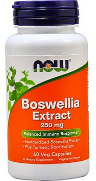 Suplement diety Boswellia, 250mg - Now Foods Boswellia Extract — фото N1