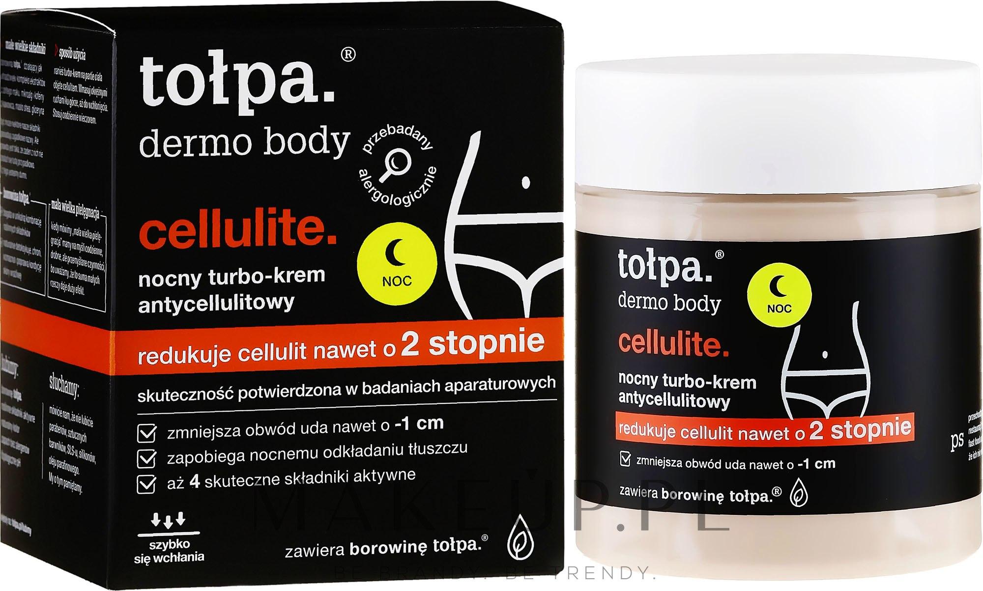 Nocny turbokrem antycellulitowy - Tołpa Dermo Body Cellulite — фото 250 ml