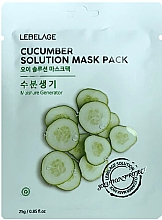Kup Maseczka do twarzy z ogórkiem - Lebelage Cucumber Solution Mask