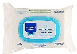 Zestaw - Mustela My Baby Bag Set (water/300ml + gel/shm/200ml + f/cr/40ml + b/cr/50ml + wipes/25pcs + bag) — фото N7