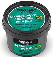 Kup Naturalny nawilżający krem-żel do stóp Aloes - Organic Shop Organic Kitchen Foot Cream-Gel
