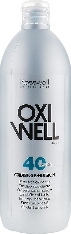 Emulsja utleniająca do włosów 12% - Kosswell Professional Oxidizing Emulsion Oxiwell 12% 40 vol — фото N1
