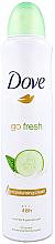 Kup Antyperspirant-dezodorant w sprayu Ogórek i zielona herbata - Dove Go Fresh Cucumber & Green Tea Scent Antiperspirant Deodorant