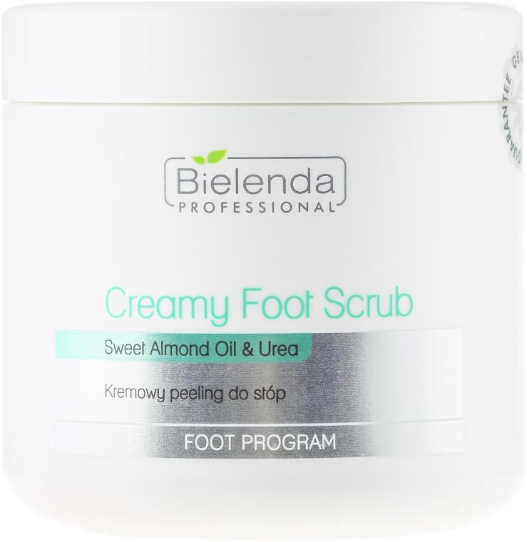 Kremowy peeling do stóp Olej ze słodkich migdałów i mocznik - Bielenda Professional Foot Paradise Creamy Foot Scrub With Almond Oil And Urea