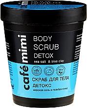 Kup Peeling do ciała Sól morska i niebieska glinka - Cafe Mimi Body Scrub Detox