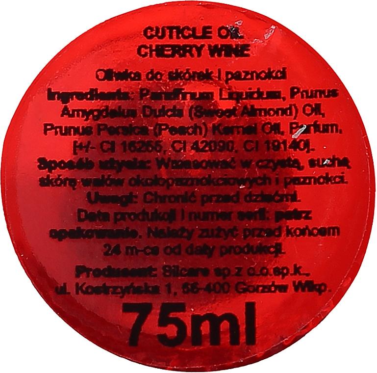 Oliwka do paznokci i skórek Wino wiśniowe - Silcare Olive Cherry Wine — фото N2