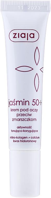 Krem przeciw zmarszczkom pod oczy i na powieki 50+ - Ziaja Jaśminowa