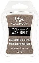Kup Wosk zapachowy - WoodWick Wax Melt Black Amber & Citrus