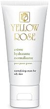 Kup Nawilżający krem do twarzy dla cery tłustej - Yellow Rose Creme Hydratante Normalisante