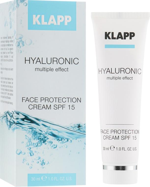 Nawilżający krem do twarzy z kwasem hialuronowym SPF 15 - Klapp Cosmetics Hyaluronic Face Protection — фото N1