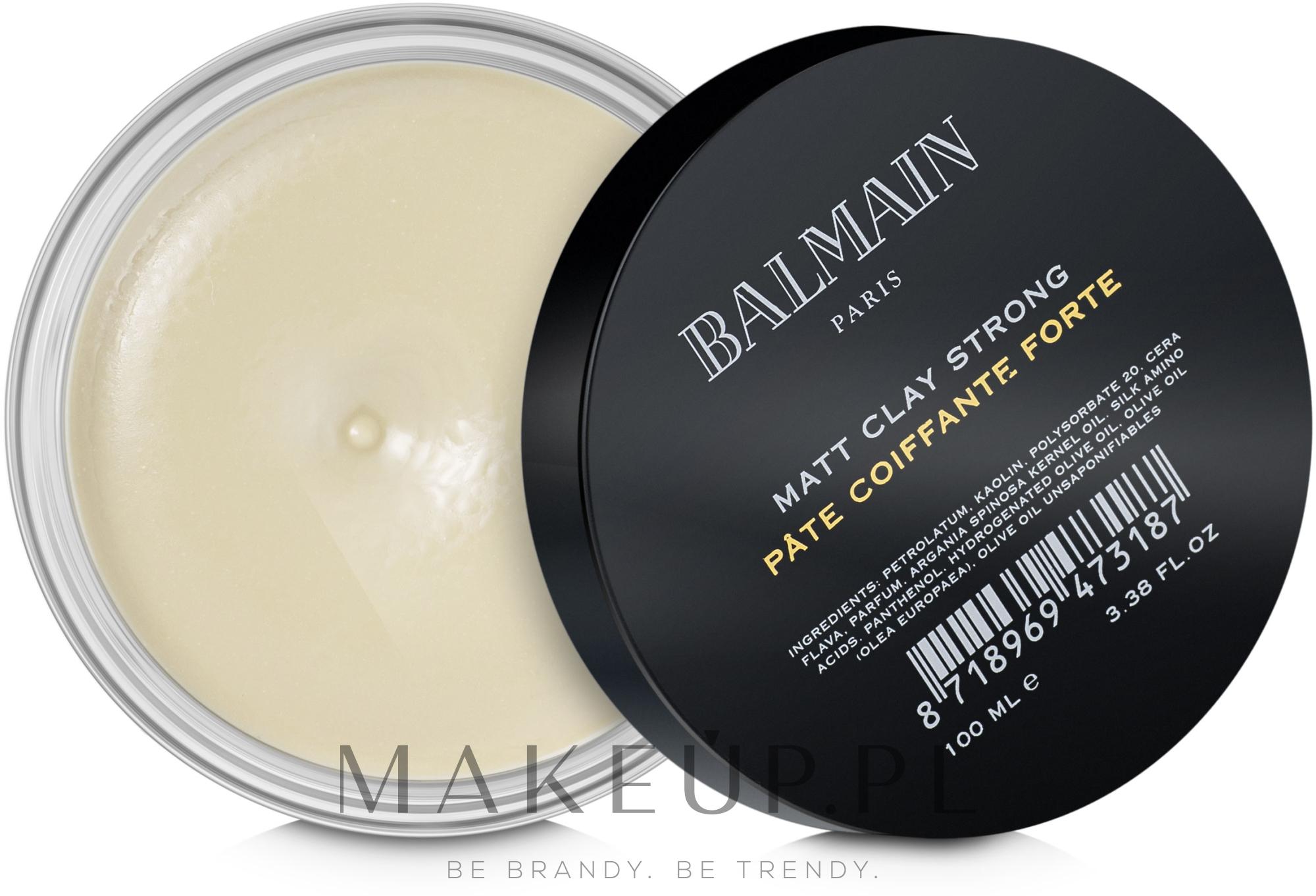 Matująca glinka do stylizacji włosów - Balmain Matt Clay Strong — фото 100 ml