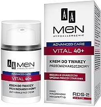 Kup Przeciwzmarszczkowy krem do twarzy dla mężczyzn 40+ - AA Men Advanced Care Vital Face Cream Anti-Wrinkle