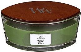 Świeca zapachowa w szkle - Woodwick Hearthwick Flame Ellipse Candle Evergreen — фото N2