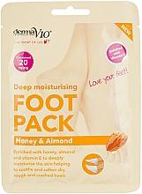 Kup Głęboko nawilżająca maska do stóp Miód i migdał - Derma V10 Peel Foot Pack Honey & Almond Socks