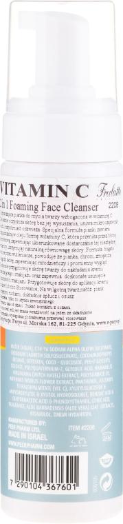 Pianka do mycia twarzy z witaminą C - Frulatte Vitamin C Foaming Face Cleanser 2 in 1 — фото N2