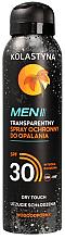 Kup Transparentny spray ochronny do opalania dla mężczyzn SPF 30 - Kolastyna Suncare Men Spray SPF 30