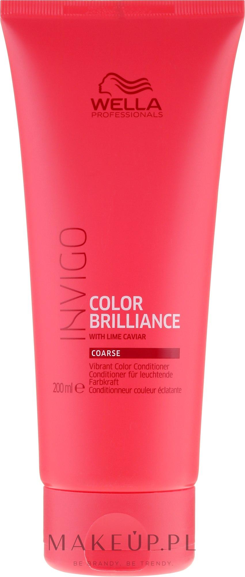 Odżywka wzmacniająca kolor grubych włosów farbowanych - Wella Professionals Invigo Colour Brilliance Coarse Conditioner — фото 200 ml