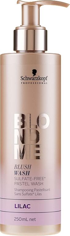Szampon bez sulfatów do włosów blond Bez - Schwarzkopf Professional Blond Me Blush Wash Lilac
