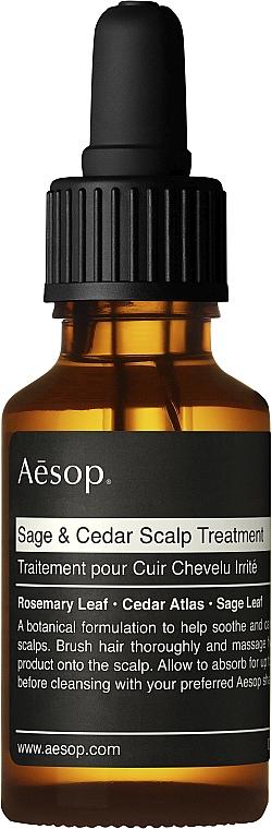 Olejek do włosów - Aesop Sage & Cedar Scalp Treatment — фото N1